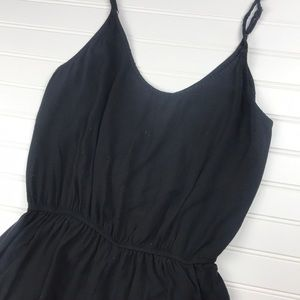 John Galt basic black romper with pockets